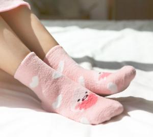 KAKAO FRIENDS Little Apeach Winter Warm Cozy Fluffy Soft Slipper Socks