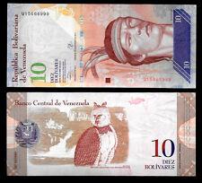 World Paper Money - Venezuela 10 Bolivares 2013 Series U8 @ Crisp UNC