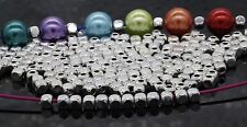 100Pcs / 500Pcs Loose Cube Beads Metal Spacer Beads Jewelry Findings 3.5*3mm