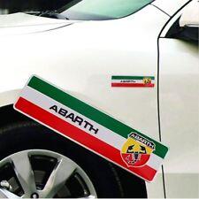 FIAT 500 Abarth Italien Flagge Italy Flag Aufkleber Scorpion Alu Emblem Sticker