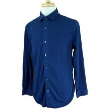 Banana Republic Men's Stretch Tailored Slim Fit Long Sleeve Blue Shirt Large