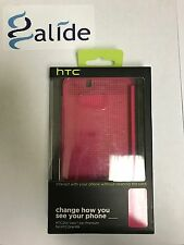 Genuine HTC Dot View 2 Premium Case For HTC One M9 Ink PINK NEW