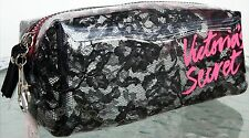 1 VICTORIAS SECRET BLACK LACE PINK COSMETIC TRAVEL BAG PHONE CASE WALLET U PICK