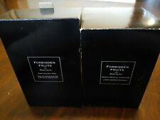 Partylite Forbidden Fruits Vine Trio Votive Candle Holders and Hurricane Mosaic