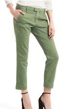 Gap Womens Slim Crop Chino Pants Size 0R- Monterey Cypress- NWT