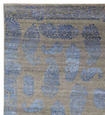 """Paisley BluDesign 5'7"""" x 7'10 Hand Knotted Oriental Contemporary Silk & Wool Rug"""