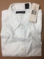 NEW Kenneth Cole Sub-Urban Gilligan's Eyelet -Large L -Button Down Shirt $69