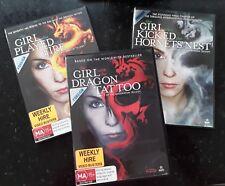 Millennium Trilogy - Tattoo/Fire/Hornets'Nest (DVD) Region 4