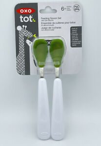 Oxo Tot Feeding Spoon Set With Soft Silicone 6 Month