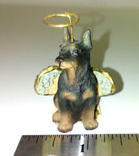 "Angel Doberman Pinscher Figurine 1.75"" Dog Sitting Resin"