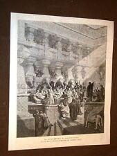Il banchetto di Baldassarre Dalla Sacra Bibbia illustrata da Gustavo Doré