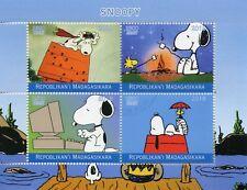 Madagascar 2018 CTO Snoopy Peanuts 4v M/S Cartoons Comics Stamps