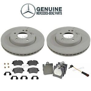 2008 2009 for Mercedes-Benz CLK350 Front /& Rear Brake Rotors and Pads w//oSpt PKG