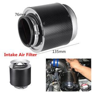 "Universal 3"" Inlet Carbon Fiber Hi-Flow Air Filter For Cold Air/Short Ram Intake"