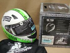 New Speed and Strength SS700 Top Dead Center Motorcycle Helmet XXL Green