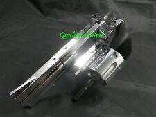 "Triple Chrome Metal Revolver 3"" Movie Prop Pistol Replica Gun Training 357 44"