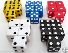 "LIAR'S DICE SET OF 25 RED WHITE BLUE YELLOW BLACK 6 SIDED D6 5/8"" 16mm LIARS #1"