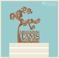 """Wedding cake topper """"Tree of Love"""" IN LEGNO Cake Topper Personalizzato, vintage."""