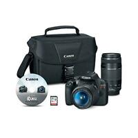 Canon 2727C023 EOS Rebel T7 24.1MP Digital SLR Camera Bundle with EF-S 18-55mm