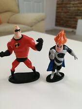 """Mr Incredible And Sindrome Cake Topper 4"""" Figurines - Incredibles"""