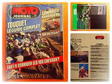 MOTO journal-737-20/2/1986-Comparatif Kawa RX 100 ou 125 chevaux ?-Guide Touquet