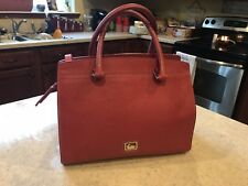 Authentic Dooney And Bourke Coral Leather Handbag Shoulder Strap Included