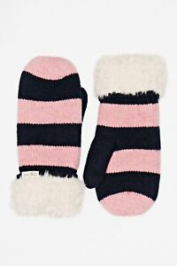 Jack Wills Women's Stripe Winter Gloves Mittens