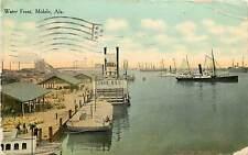 Alabama, AL, Mobile, Water Front 1910 Postcard