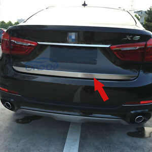 Fit For BMW X6 2015 2016 2017 Stainless Rear Bumper Tailgate Trunk Lid Trim