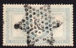 France 5 Franc Stamp c1869 Used (542)
