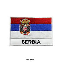 Serbia National Flag Embroidered Patch Iron on Sew On Badge For Clothe etc