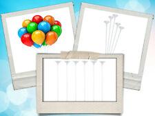 10 White BALLOON STICKS Baloon Holder with Cups Plastic Sticks