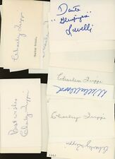 LOT (22) Football Signed Index Cards AUTO Autograph w/ HOF's #4