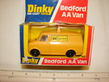 VINTAGE TRUCK CAR DINKY TOYS MADE ENGLAND BEDFORD AA VAN YELLOW IN BOX #412