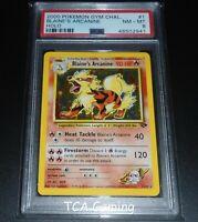 PSA 8 NM-MINT Blaine's Arcanine 1/132 Gym Challenge HOLO RARE Pokemon Card