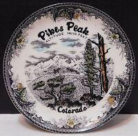 Vintage Pikes Peak Colorado Collector Plate Summit House altitude 14,110 feet