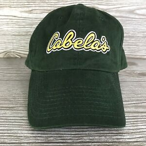 Cabelas Baseball Hat Cap Dark Green Adjustable Strapback Hunting Fishing