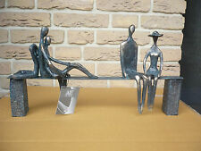 "Casablanca Design Skulptur ""Leisure"" bronce/schw. L 45 cm  Art. 59772  Geschenk"