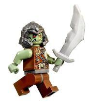 Lego Castle, Fantasy Era, Sand Green Troll Orc Warrior w/ Sword & Helmet NEW