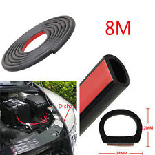 26ft Big D Shape Mat Car Door Window Edge Rubber Weatherstrip Strip Sealing Pad