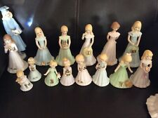 Enesco Growing Up Birthday Girls Blonde Babe Ages Baby Through 17 Figurines