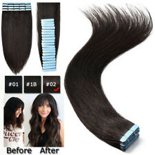 9A Grade Russian Remy Tape In Glue 100% Real Human Hair Extensions Skin Weft AAA