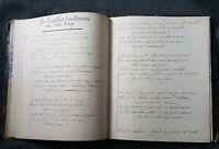 MANUSCRIT ANCIEN RECUEIL DE POESIES DATÉ 1872, VICTOR HUGO, ET AUTEURS 140 PAGES
