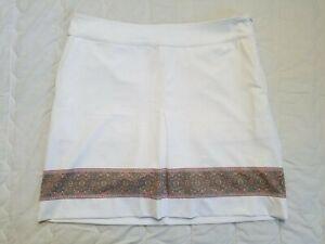 1 NWT FAIRWAY & GREENE WOMEN'S SKORT, SIZE: 6, COLOR: WHITE MULTI (J131)