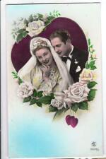 CARTE POSTALE ANCIENNE LES MARIEES MARIAGE  editeur MIC  carte non écrite !