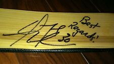 TPS OMEGA DWAYNE ROLOSON HOCKEY GOALIE STICK AUTOGRAPHED AUTO OILERS WILD DUCKS