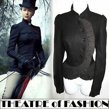 TOPSHOP VINTAGE JACKET 8 6 RIDING BUSTLE COAT VICTORIAN EDWARDIAN 40s WAR BRIDE