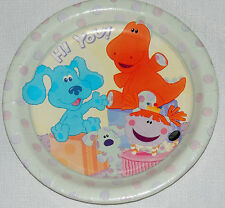 NEW  BLUE'S  CLUES  ROOM  8-PAPER DESSERT PLATES BIRTHDAY-CHILD   PARTY SUPPLIES