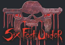SIX FEET UNDER FLAGGE FAHNE BLOODSKULL UNDEAD POSTERFLAGGE POSTER FLAG STOFF