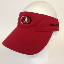 Midwest Stich Visor Hat Cap Red Embroidered Adjustable 100% Cotton